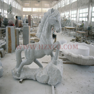 HZX-Grey Granite Horse Sculpture