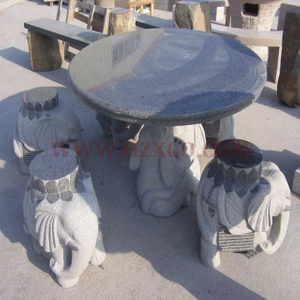 HZX-Grey Granite Bench and Table