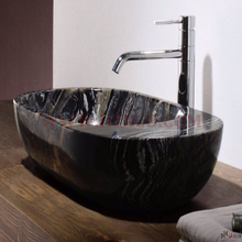 HZX-Black Wood Marble Sink