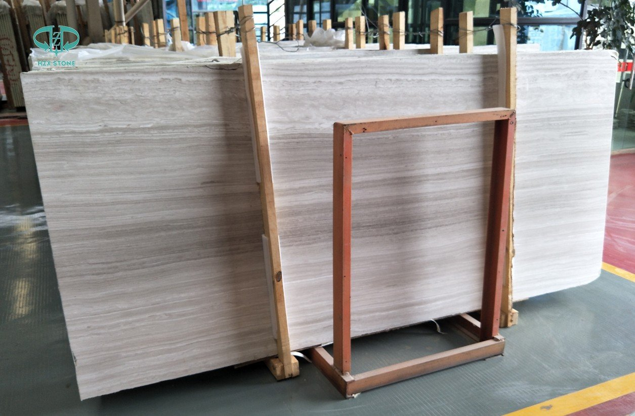 White Wood Grain Marble,Wooden White Marble