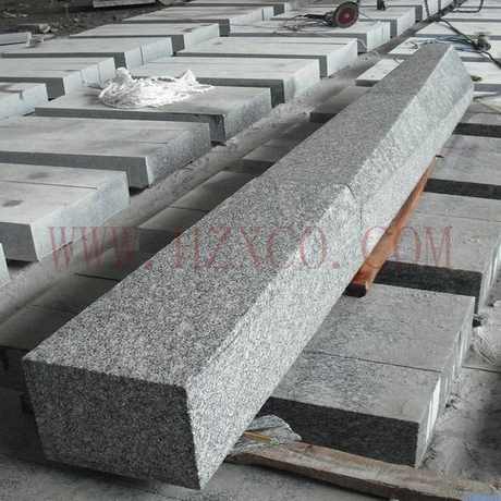 HZX-G603 Curved Kerbstone Flamed grey stone