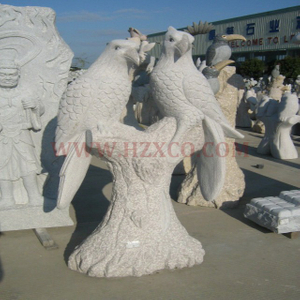 HZX- Beige Granite Bird Sculpture
